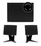 Sound system with two speakers and subwoofer Stock Photo