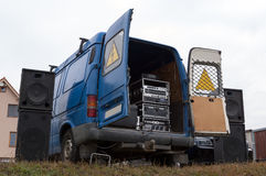 Sound system in the van Royalty Free Stock Images