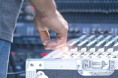 Sound technician royalty free stock photos