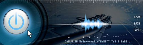 Sound technology Royalty Free Stock Image