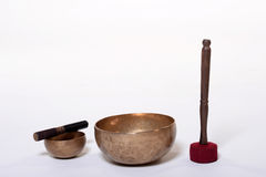 Sound theraphy with singing bowls (Cup of life) - popular mass product souvenier in Nepal, Tibet and India Stock Image