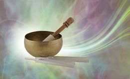 Sound Therapy Instruments and their beautiful energy field royalty free stock photography