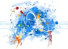sound vattenfärgwave Royaltyfri Foto