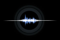 Sound vawes. Sound waves illustration. Sound waves graphic display Stock Photos