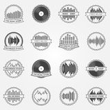 Sound vector logo and emblem set Stock Photography