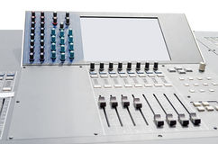 Sound and video mixer Royalty Free Stock Photos