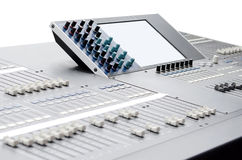 Sound and video mixer Stock Photos