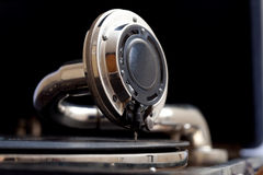 The sound of vintage. old gramophone close up Royalty Free Stock Photography