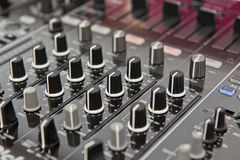 Sound and voice controlling equipment Stock Photos