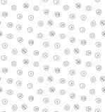 Sound voice multimedia seamless pattern Stock Image