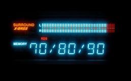 Sound volume on illuminated indicator board Stock Photography