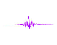 Sound wave. Beautiful pink isolated Sound wave Royalty Free Stock Photography