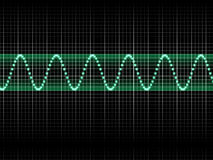Sound Wave. Realistic Illustration of Green Sound Wave Stock Images