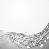 Sound wave. Vector music background for your design Stock Photography