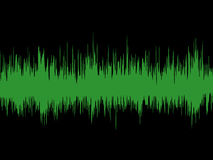 Sound wave. Background showing a sound wave detail Stock Photography