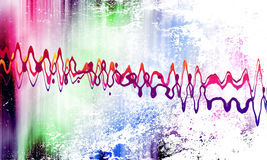 Sound wave. On grunge background Stock Images