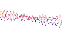 Sound wave. On white background Royalty Free Stock Images