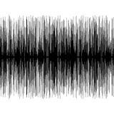 Sound Wave. Measurement in black and white Royalty Free Stock Photo