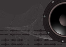 Sound Wave. A speaker and some sound waves Royalty Free Stock Photos