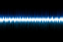 Sound Wave. Illustration of blue sound wave on the black background Stock Photos