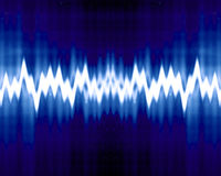 Sound wave. On a dark blue background Stock Image
