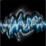 Sound Wave. A fully scalable vector illustration of a digital sound wave Stock Photography