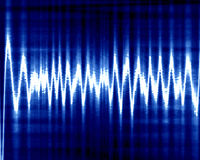 Sound wave. On a dark blue background Royalty Free Stock Photos