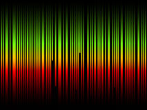 Sound wave. Isolated on black background Stock Images