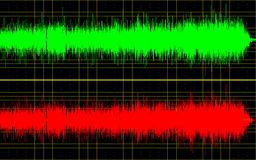 Sound wave. Illustration of a sound wave in green and red Royalty Free Stock Photo