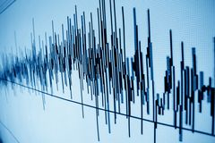 Sound wave. Sound audio wave abstract background Royalty Free Stock Photos