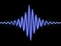Sound wave. 3d illustration of sound wave over black background Royalty Free Stock Photography