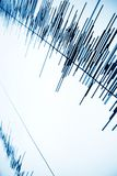 Sound wave. Sound audio wave abstract background Royalty Free Stock Images