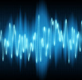 Sound wave. S oscillating on black background Royalty Free Stock Photo