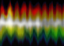 Sound wave. Abstract background of sound wave Royalty Free Stock Photos