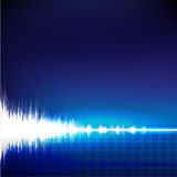 Sound wave abstract background. Sound wave on blue background Stock Images