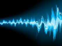 Sound wave abstract background. EPS 10 Royalty Free Stock Photo