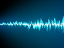 Sound wave abstract background. EPS 10 Royalty Free Stock Photography