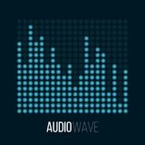 Sound wave abstract background. Audio digital vector illustration Stock Photography