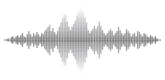 Sound wave abstract background vector design Royalty Free Stock Photo