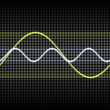 Sound wave. Abstract glowing colorful equalizer sound wave background Royalty Free Stock Photography