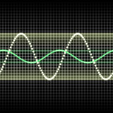 Sound wave. Abstract glowing colorful equalizer sound wave background Stock Image