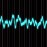 Sound wave. Abstract glowing colorful equalizer sound wave background Royalty Free Stock Image