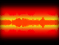 Sound wave - Audio Equalizer. Sound wave illustration. Audio Equalizer and music concept Stock Photo