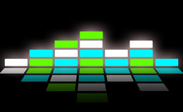 Sound wave and audio wave Stock Image