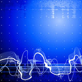 Sound wave background Stock Photography