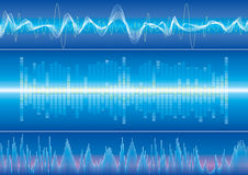 Sound wave background. Vector illustration with layers file Stock Photo