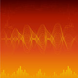 Sound wave background Stock Image
