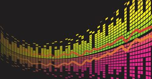 Sound wave. Background with a color equalizer Royalty Free Stock Images