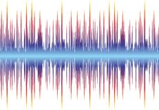Sound wave. Background with a color equalizer Stock Photos