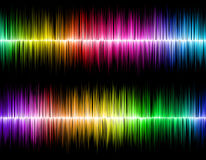 Sound wave background. Color waves Royalty Free Stock Image